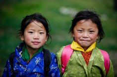 Two Bhutanese girls By Lil [Kristen Elsby]