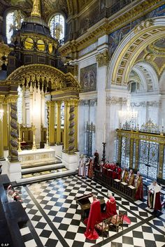The Queen and Prince Philip at St. Paul's Cathedral, London