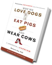 "The Way   We Think about   Eating Animals     ""The concept of carnism is important and empowering; it uniquely names and illumines what has been virtually invisible in our culture's most defining attitudes and practices.""    ─ Dr. Will Tuttle, author of The World Peace Diet"