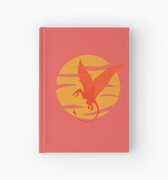 Flying Pterosaur Hardcover Journal #dinosaur #jurassic #rhamphorhynchus #pterosaur #extinct