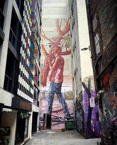 Astonishing mural art by Fintan Magee  Fintan Magee is an Australian street artist known for his murals throughout Australia and rest of the world. Fintan encouraged by his parents began drawing at a young age  http://www.funpalstudio.com/astonishing-mural-art-by-fintan-magee/