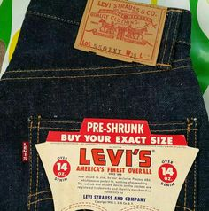 Vintage Outfits, Vintage Fashion, Vintage Clothing, Vintage Style, Levi Strauss & Co, Raw Denim, Denim Outfit, Western Outfits, Vintage Levis