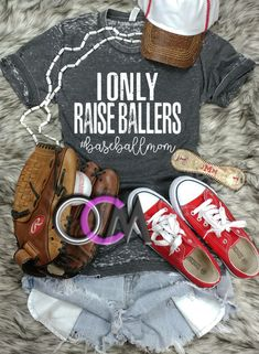 I Only Raise Ballers Baseball Mom T-shirt, Baseball Mom Shirt, Ballers Baseball Shirt, Ladies Baseball t-shirt- Eroded - One Crafty Momma Baseball Mom Shirts, Baseball Shirt Designs, Baseball Boys, Baseball Jerseys, Softball, Bats For Sale, I Love Fashion, Tee Shirts, Tees