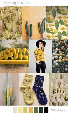 YELLOW CACTUS by PatternCurator