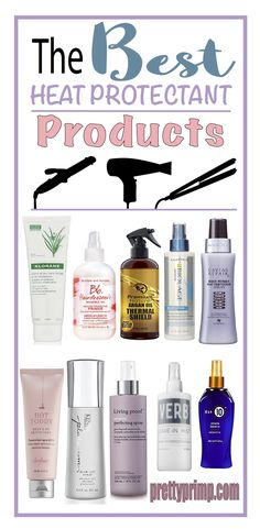 10 Best Heat Protectant Products for ANY Hair Type (Sprays & Serums) A list of the best heat protectants for hair! Drugstore and luxury products from brands like Kenra, Living Proof, and more. Best Heat Protectant Spray, Best Drugstore Heat Protectant, Hair Heat Protector, Protective Hairstyles, Cool Hairstyles, Hairstyle Ideas, Kenra Hair Products, Best Hair Products, Frizzy Hair