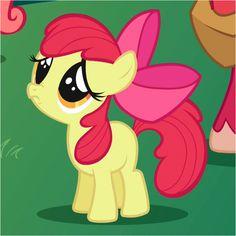 Sad Little Apple Bloom. My Little Pony Friendship is Magic.