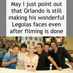I just wanted to point this out. ~ made by Samantha Morton / The Hobbit / Humor / Benedict Cumberbatch / Evangeline Lily / Cate Blanchett / Orlando Bloom / Luke Evans / Lee Pace / Legolas funny faces / Please tell me if I got ANY names wrong or misspelled them.