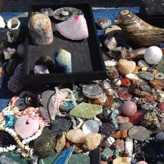 Sunday is Flea Market Day! The Crystal Man is my Favorite! I purchased some Beautiful pieces!