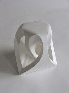 Fractal form I - Paper Art Sculptures by Richard Sweeney