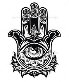 Amulet Hamsa Hand of Fatima - Miscellaneous Vectors