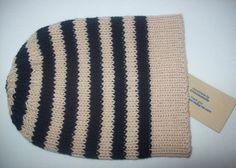 Striped Merino Beanie Hand knit Hat Ribbed by Clickclackknits, £26.50