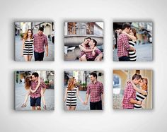 Photo Gift Boyfriend - set of 6, 6x6 each - custom photo canvas gift, gift for boyfriend anniversary, photo canvas art. $129.00, via Etsy.