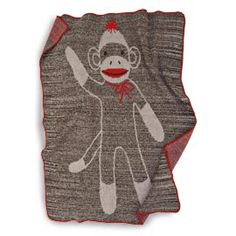 Sock Monkey Throw, Knit Sock Monkey Blanket | Solutions