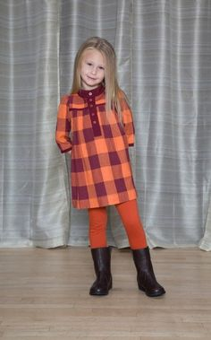 Placket Dress - The Dragon and the Rabbit  - Leggings available at http://www.thedragonandtherabbit.com/categories/GIRLS/Pants-%26-Jeans/Leggings/