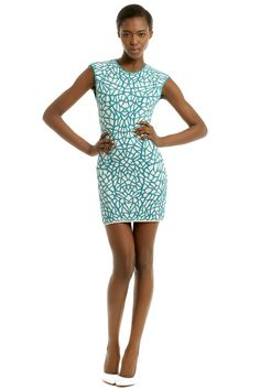 Rent Turq Textile Sheath by RVN for $75 only at Rent the Runway.