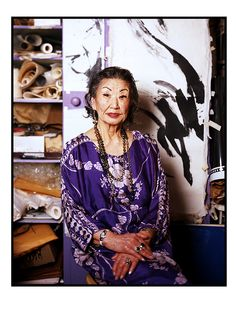 Koho Yamamoto (92) is a respected sumi-e artist and teacher who has lived in the West Village over 50 years.  Photography Series Spotlighting Iconic Women Over 70 Proves The Best Is Yet To Come