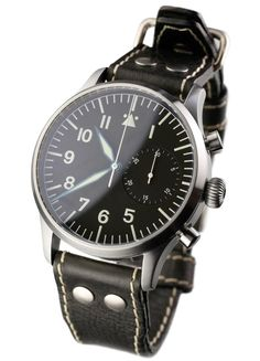 Stowa- 41 mm Flieger Chronograph based on a modified Valjoux 7753 calibre.