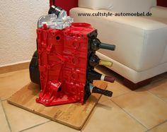 Cultstyle auto möbel 4-Zylinder Motorblock Weinständer
