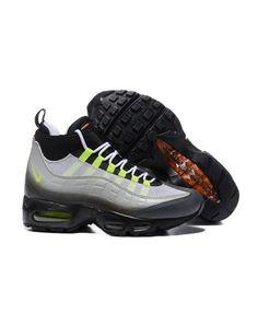 8762d861c7a11a Nike Air Max 95 Sneakerboot Black Green Grey Shoes Nike Air Max