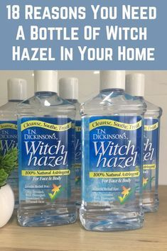 Every home should have a bottle of witch hazel. Here's why… - Witch Hazel: 18 Uses For This Powerful Little Bottle Homemade Cleaning Products, Household Cleaning Tips, Natural Cleaning Products, Cleaning Hacks, Natural Products, Household Cleaners, Natural Foods, Beauty Products, Natural Cleaning Solutions