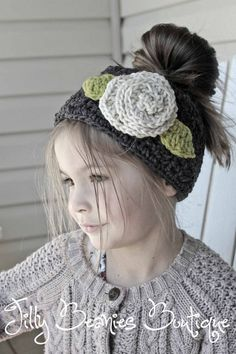 Crochet Girl Headbands Headwrap Ear by JillyBeaniesBoutique