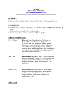 aerobics instructor resume httpwwwresumecareerinfoaerobics