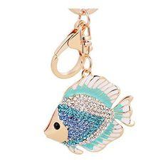 Seahorse Sea Life Animal Crystal Diamante Rhinestone Bag Charms Handbag Keyrings