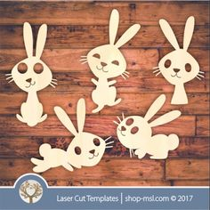 """Use these cute bunny templates for kids rooms, arts and crafts, scrapbooking and so much more. Laser cut and engrave out of wood, acrylic, hardboard <a href=""""https://za.pinterest.com/cut_templates/"""" target=""""_blank"""" style=""""text-decoration:underline""""> Follow us on PINTEREST </a> <a href=""""https://www.facebook.com/SA.Argus/"""" target=""""_blank"""" style=""""te..."""