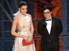 """""""A lot of actors are migrant workers. We travel all over the world, we construct stories, we build life but cannot be divided,"""" Bernal said while presenting the award for Best Animated Feature Film. """"As a Mexican, as a Latin American, as a migrant worker, as a human being I'm against any form of wall that wants to separate us.""""SHAME HE CAN'T READ ANYTHING BESIDES SCRIPTS"""