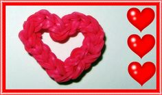 """EASY Rainbow Loom Charms: """"Open Your Heart"""" - Mother's Day, Fun Loom, Go..."""