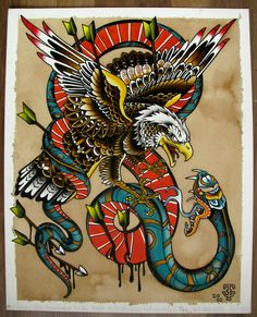 Best Old School Tattoo Ideas. We have a photo gallery featuring cool and meaningful tattoo ideas. And in case you are curious, discover the brief history of tattoo art, as well. Visit our Website for more coll tattoos and everything about tattoos. Traditional Tattoo Design, Traditional Tattoo Flash, Eagle Tattoos, Wolf Tattoos, Tatoos, Dragon Tattoos, Celtic Tattoos, Tribal Tattoos, Americana Tattoo
