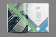This Intrsct Indesign template is a 24pp information based brochure/annual report/company profile.
