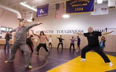 At high school, yoga without the spiritual #yogawithout