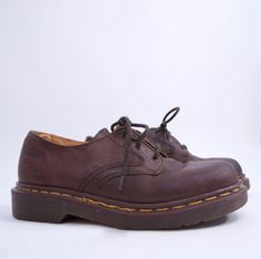 true vintage 90s DR MARTENS brown genuine leather Uk 4 US Women's 6 90 90s style 90s clothing grunge hipster minimalist by SlowhandVTG on Etsy https://www.etsy.com/listing/470837210/true-vintage-90s-dr-martens-brown