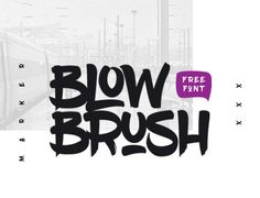 "Check out this @Behance project: ""BlowBrush free font"" https://www.behance.net/gallery/33043073/BlowBrush-free-font"