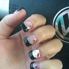 Hello kitty nails!!