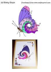 Iris Folding Butterfly Pattern