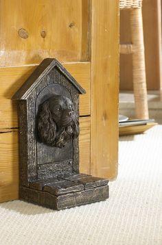 Warm Bronze Finish Cavalier King Charles Spaniel Door Stop    Black Country Metal Works