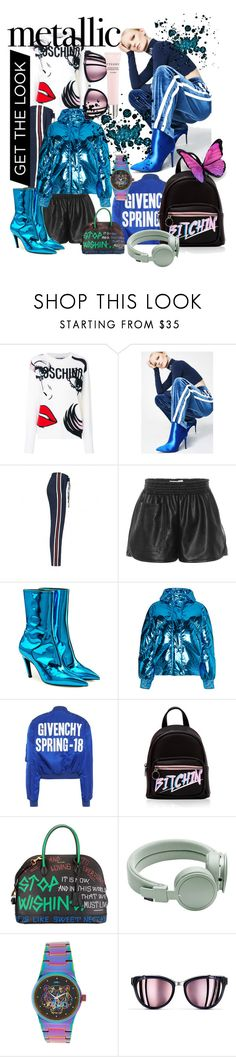 """""""Sporty chic"""" by noelia-ferreiro ❤ liked on Polyvore featuring Moschino, Honey Punch, STELLA McCARTNEY, Balenciaga, Ienki Ienki, Givenchy, Urbanears, Chanel and By Terry"""