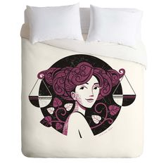 Lucie Rice Lola Libra Duvet Cover | DENY Designs Home Accessories