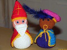 Amigurumi Sinterklaas and Zwarte Piet