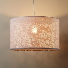 The Land of Nod | Kids Lighting: White Lace Pendant Lamp in Ceiling Fixtures