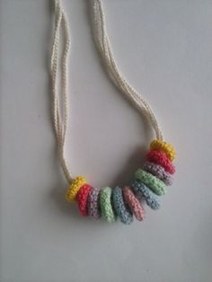 crochet necklace rings for accessories add interest to t-shirt jewelery
