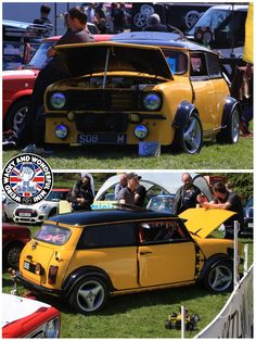 Mornin Miniacs Let's have a Modified Mini Monday starting with this Clubby that's had more than a few inches chopped out of the pillars. Its also sporting Ford power under the bonnet. Have a great day folks