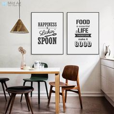 Modern Kitchen Wall Decor, Paint For Kitchen Walls, Kitchen Canvas, Kitchen Wall Art, Kitchen Prints, Kitchen Ideas, Living Room Pictures, Wall Art Pictures, Canvas Pictures