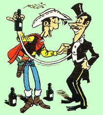 Lucky Luke als goochelaarsleerling door Morris Lucky Luke, Bilal, Morris, Cowboys, Comic Art, Cartoons, Comics, Illustrations, Drawings