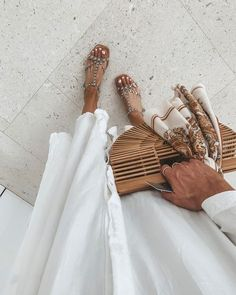 Miami Vacation Looks Night Outfits, Summer Outfits, Us Beach Vacations, Cella Jane, Beachwear Fashion, Studded Sandals, White Maxi, Beach Look, Fashion Essentials