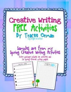 FREE Spring Creative Writing Exercises contains two writing activities for your students to practice their creative thinking skills. For additional writing exercises and prompts, see my Spring Creative Writing Activities and Handouts Writing Worksheets, Writing Resources, Teaching Writing, Writing Activities, Writing Prompts, Teaching Resources, Teaching Ideas, Writing Journals, Writing Assignments