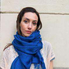 Foulard-Pashmina / Azul eléctrico