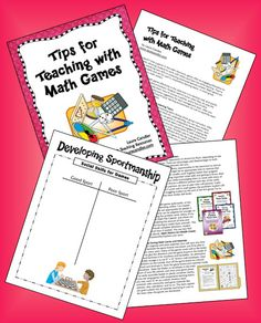 Tips for Teaching with Math Game Freebie from Laura Candler